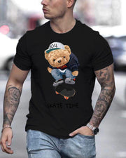 Teddy Bear Print Short Sleeve T-shirts
