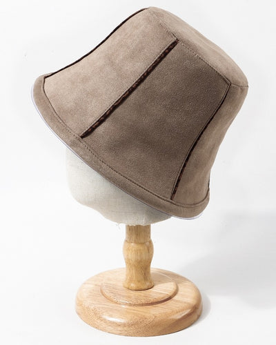 Solid Color Suede Fisherman's Hat