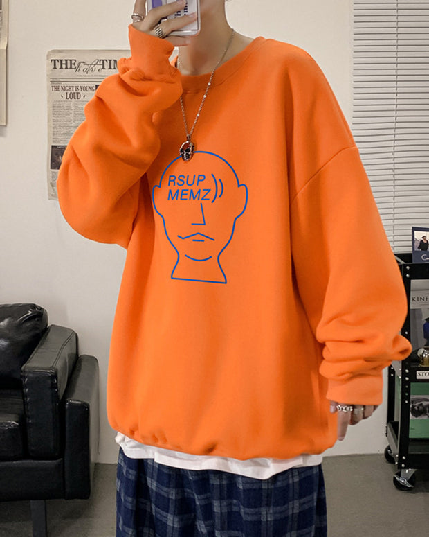 Street Cartoon Print Long Sleeve T-shirt