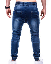 Solid Color Washing Skinny Jeans