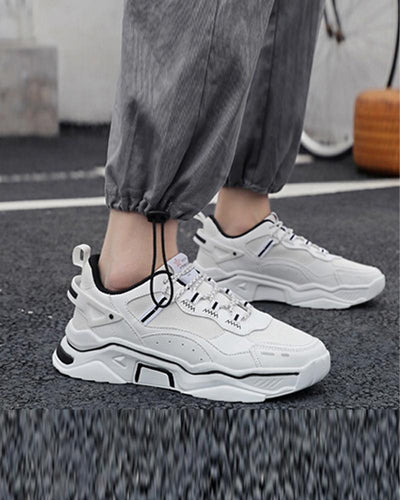 Colorblock Lace-up Jogging Sports Sneakers