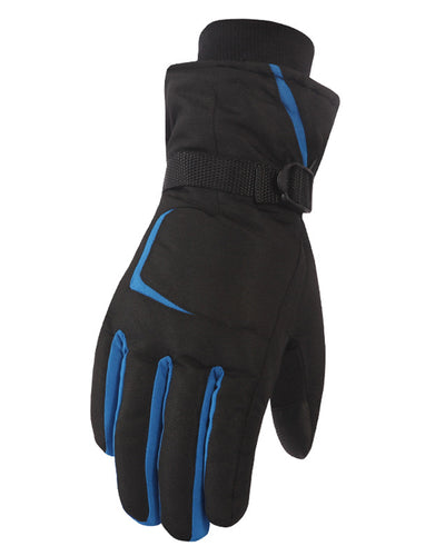 Outdoor Color Block Thermal Gloves