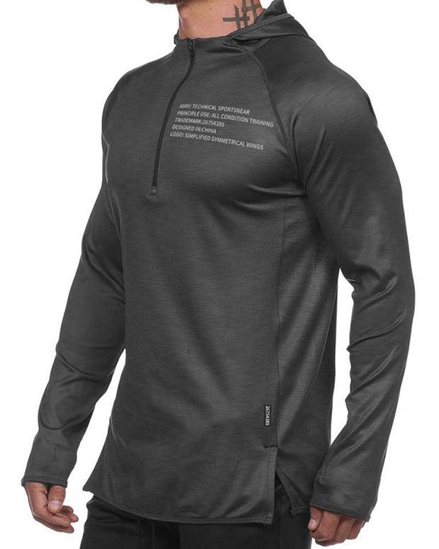 Solid Long Sleeve Loose Sporty T-shirt
