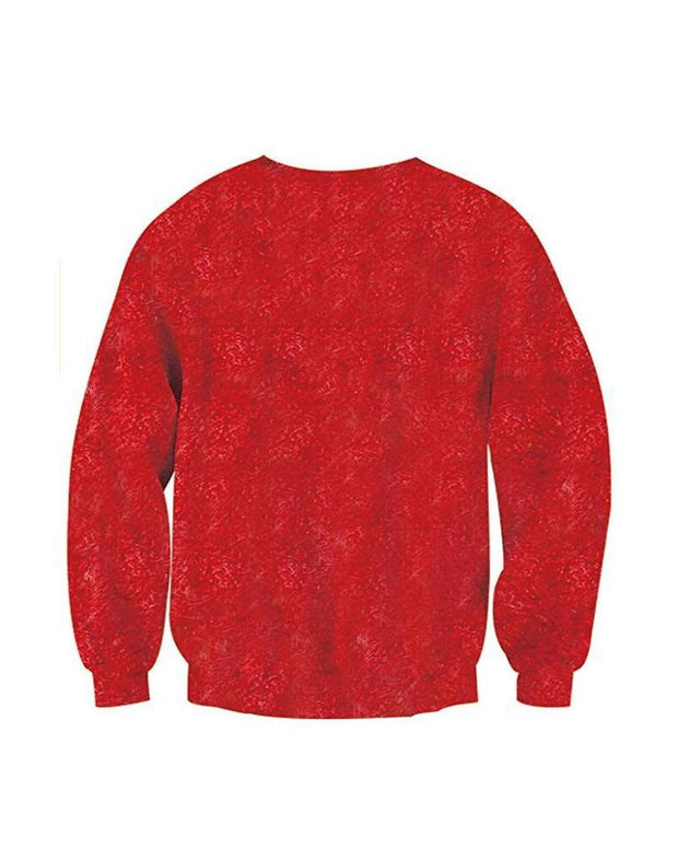Christmas Print Long Sleeve Sweatshirts T-shirts