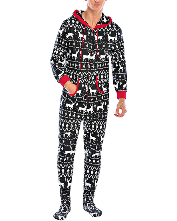 Christamas Long Sleeve Hoodies Jumpsuit Onsise