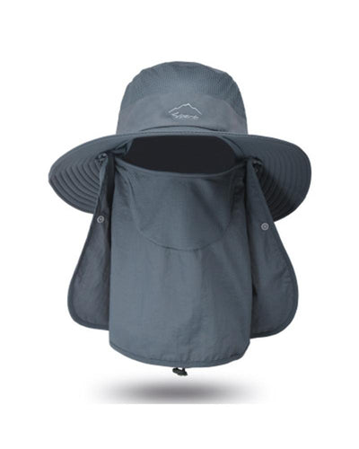 Solid Speed-dry Anti-uv Hat With Bandanas
