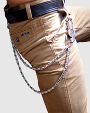 Metallic Punk Hip-hop Waistbelt Chain