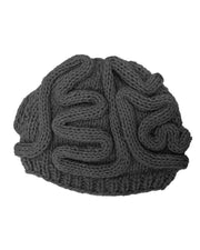 Solid Halloween Brain Shape Cable-knit Hat