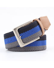 Color Block Canvas Weaving Elastic Belts