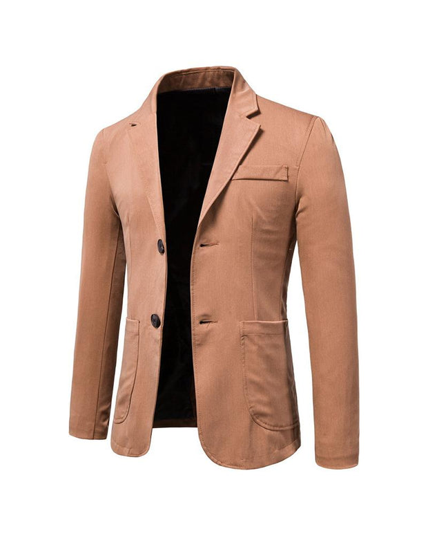 Casual Solid Color Long Sleeve Blazer