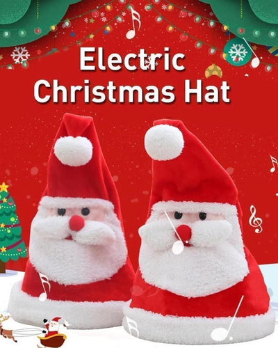 Electric Christmas Santa Claus Hat