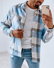 Plaid Long Sleeve Button-up Shirts