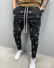 Embroidery Design Drawstring Jogger Pants