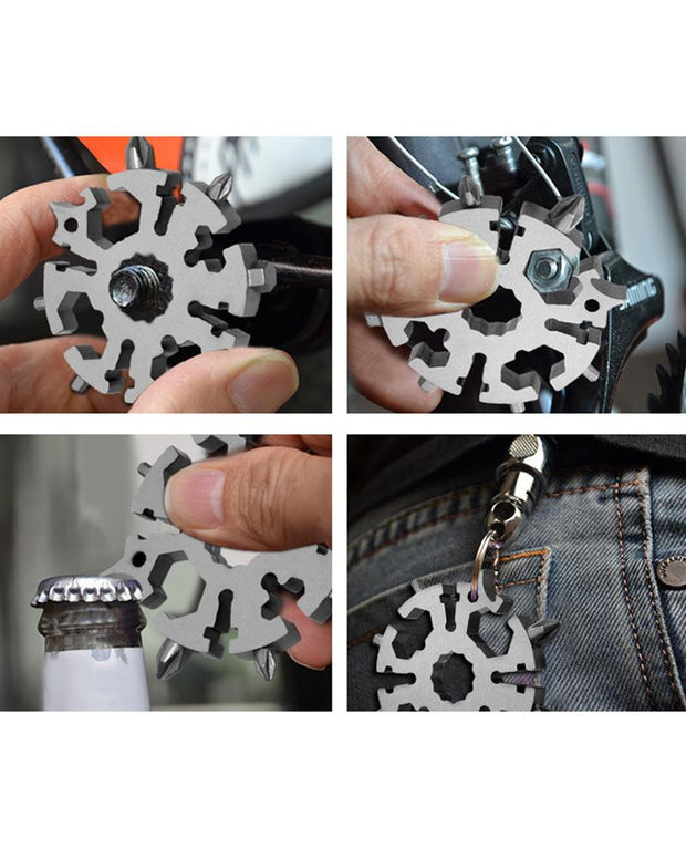 Christmas Snowflake Shape Outdoor 20 In 1 Wrench