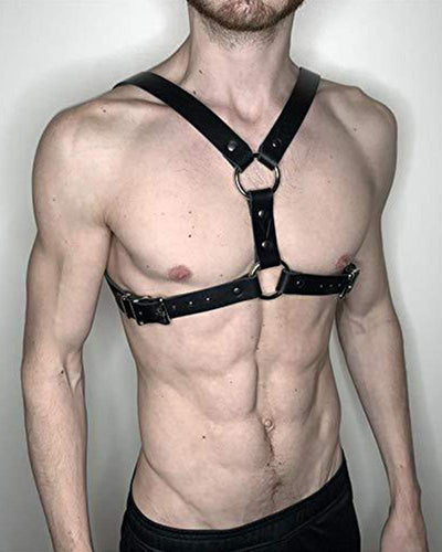Solid Color Leather Harness Belt