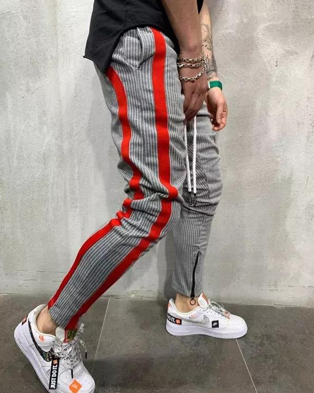 Side Striped Drawstring Joggers