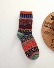 Vintage Style All Over Print Cotton Socks