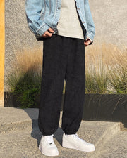 Solid Loose Latern Corduroy Pants