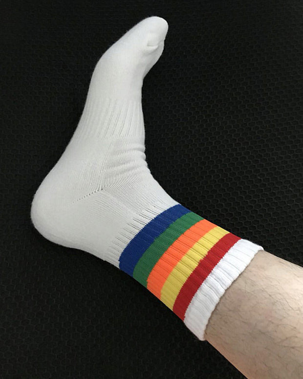 Multicolor Striped Skinny Midi Socks