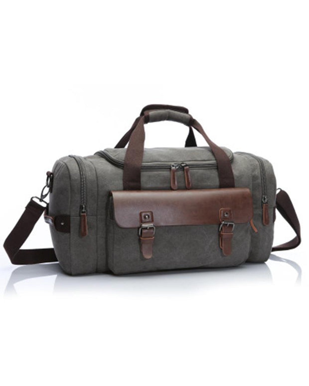 Casual Solid Color Canvas Travel Bags