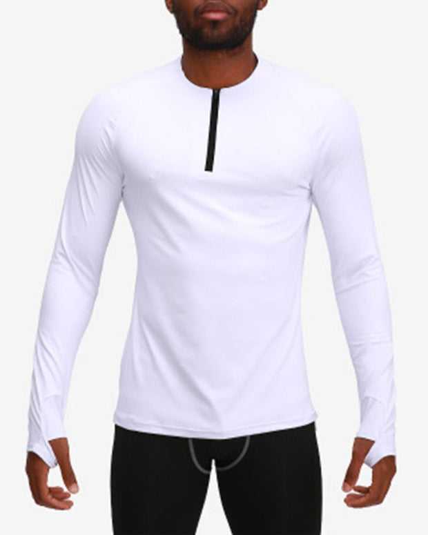 Solid Color Quick-drying Long Sleeve Sporty T-shirt