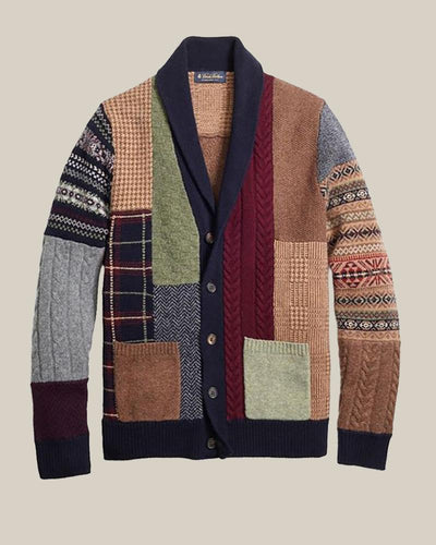 Colorblock Patchwork Long Sleeve Cardigans
