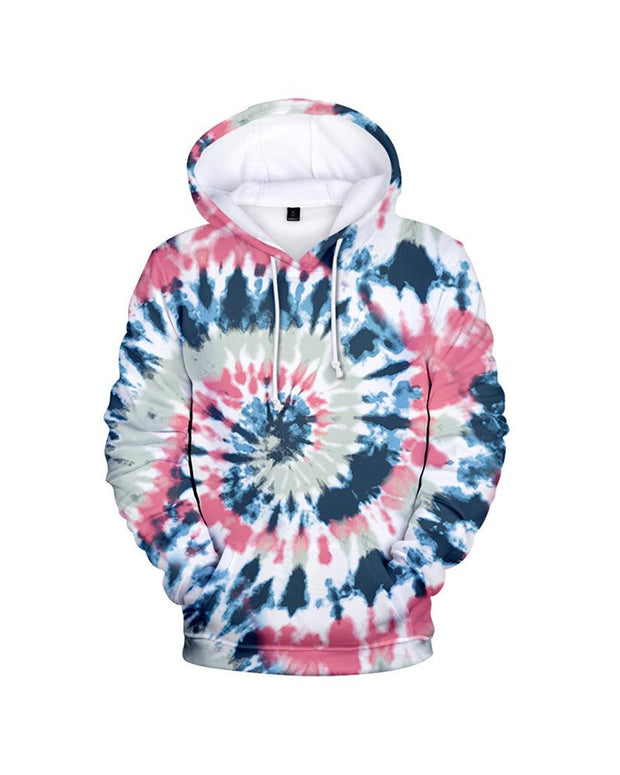 Tie Dye Long Sleeve Loose Hoodies Sweatshirts