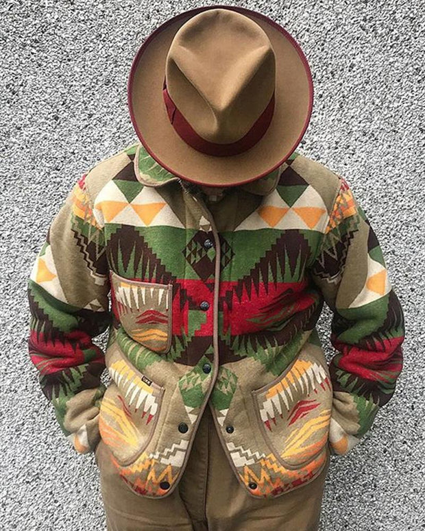 Colorblock Patterns Long Sleeve Loose Sweaters