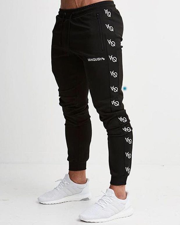 Letter Printing Sport Fit Pencil Pants