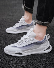 Coloblock Lace-up Breathable Mesh Sneakers