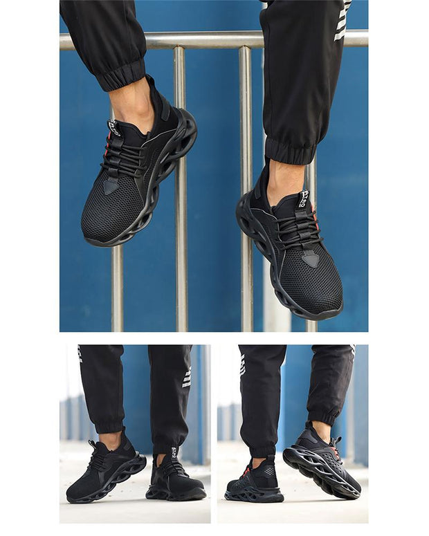 Lace-up Round-toe Color Block Sneakers