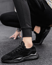 Coloblock Mesh Breathable Round Toe Sneakers