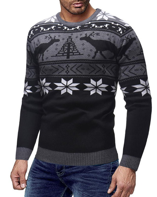 Christmas Printing Long Sleeve T-shirt