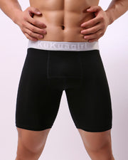 Solid High Elastic Sporty Shorts
