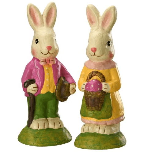 "9"" Mr. & Mrs. Rabbit Set of 2 - Holiday-Outfitters"