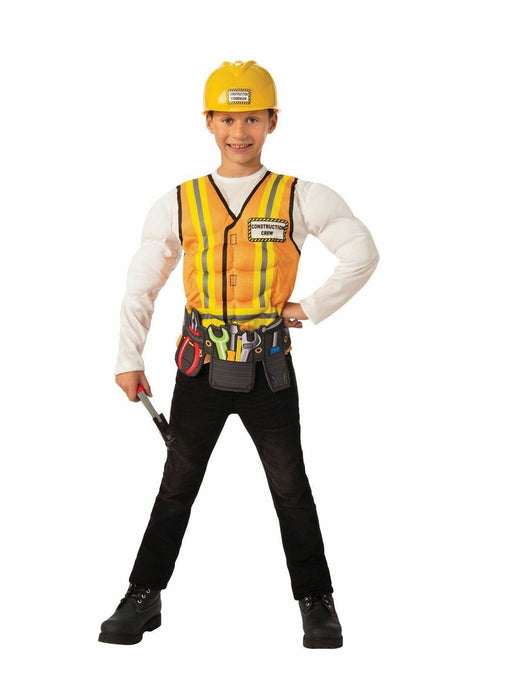 Boys Construction Worker Costume (Large) - Holiday-Outfitters