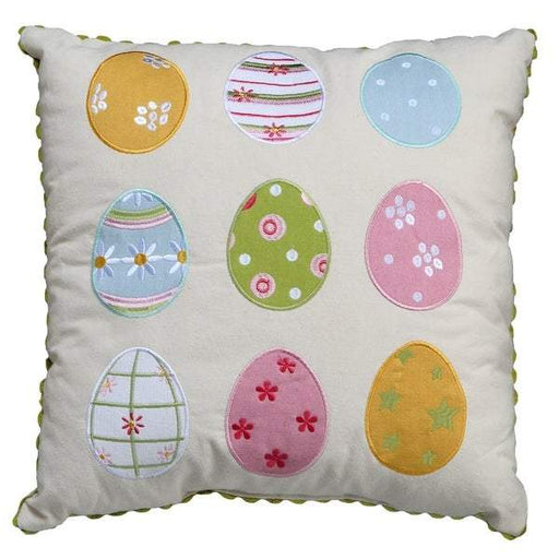 "16"" x 16"" Mixed Easter Egg Design Decorative Pillow - Holiday-Outfitters"
