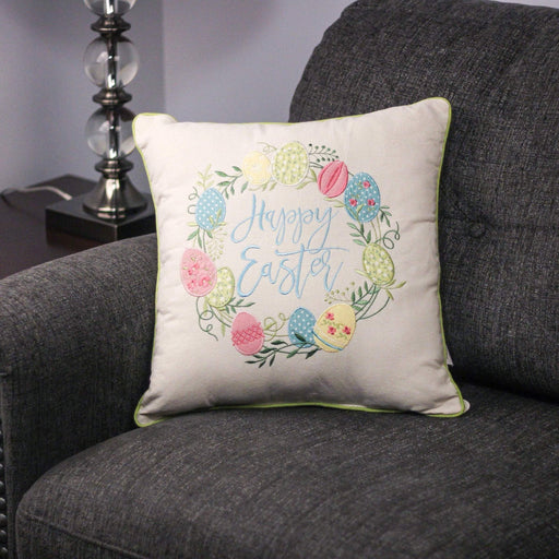 "16"" x 16"" ""Happy Easter"" Decorative Pillow - Holiday-Outfitters"