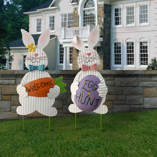 "19.7"" Easter Bunny Decor Set of 2 - Holiday-Outfitters"
