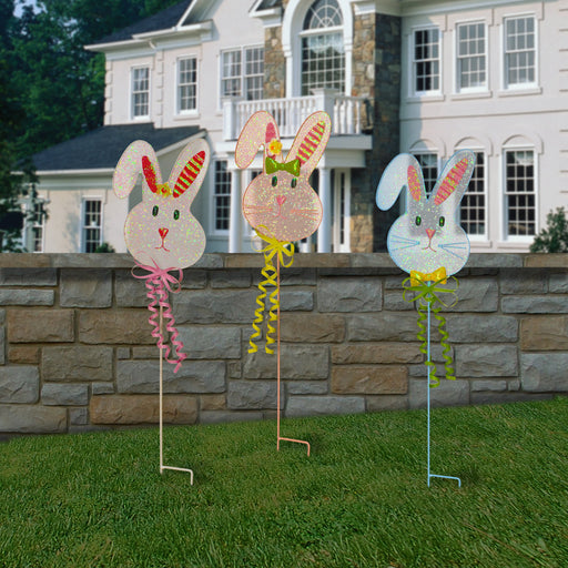 "23.80"" Easter Bunny Decor Set of 3 - Holiday-Outfitters"