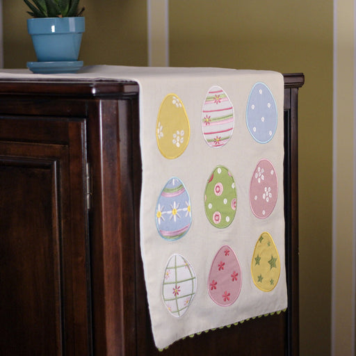 "13"" x 72"" Mixed Easter Egg Design Decorative Table Runner - Holiday-Outfitters"