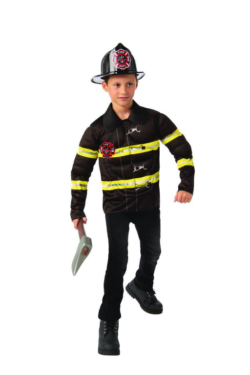 Boys Fireman Costume (Large) - Holiday-Outfitters