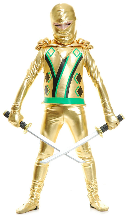 Boys Golden Ninja W/Armor - Holiday-Outfitters