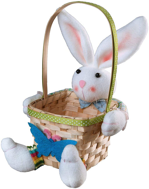 Easter Bunny holding Blue Basket - Holiday-Outfitters