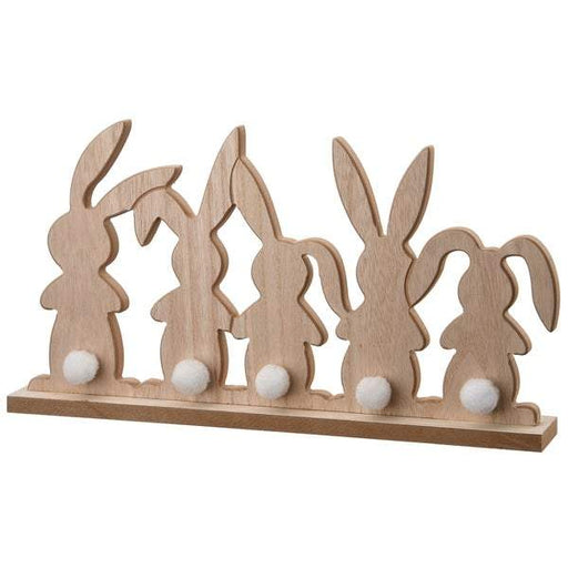 "8"" Wood Rabbit Door Décor - Holiday-Outfitters"