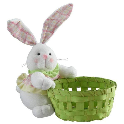 Easter Bunny holding Green Basket - Holiday-Outfitters