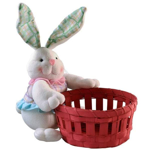 Easter Bunny holding Pink Basket - Holiday-Outfitters