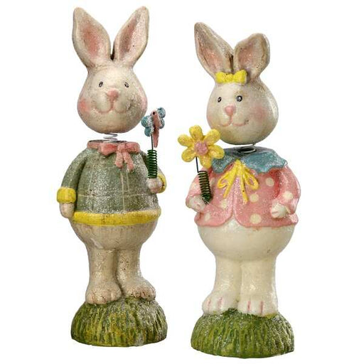 "8"" Mr. & Mrs. Rabbit Set of 2 - Holiday-Outfitters"