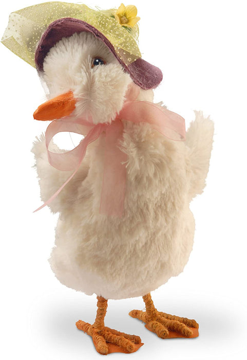 "11.6"" Duck with Easter Bonnet - Holiday-Outfitters"