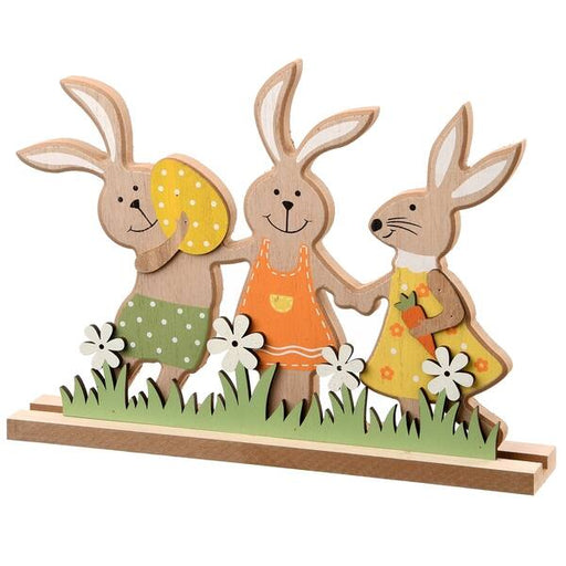 "9"" Wood Rabbit Home Décor - Holiday-Outfitters"